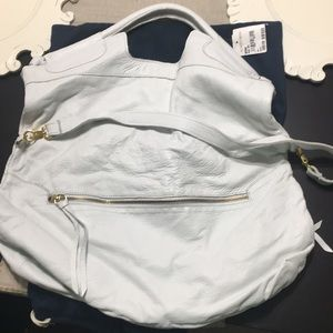 Anna Corinna convertible white leather bag